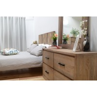 X - Bargo 4pc Queen Bedroom Suite with Lowboy & Mirror